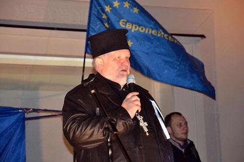 На Евромайдан прибыли православные из УУБА.