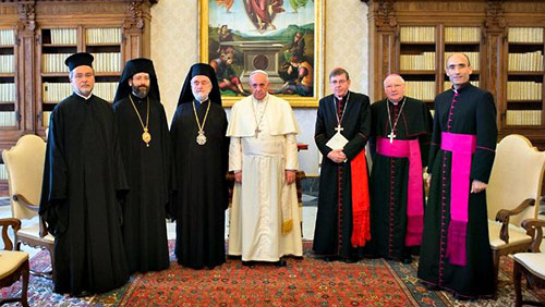 Греческие иерархи и Синодальный хор на папской мессе