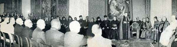 Второй Ватиканский Собор. Иоанн XXIII принимает православных и протестантских наблюдателей