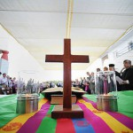 Молитва в ЦК ВСЦ перед подготовительным заседаниемперед 10 Генерльной Ассамблеей ВСЦ. Колимбари, Греция. 29 августа 2012 г.