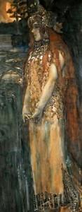 М. Врубель. Н.И. Забела-Врубель в роли морской царевны Волховы. 1898 г.
